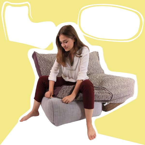 Spravte si nový sedací vak tým, že mu venujete nový návlek. Z exteríorového vaku spravíte rýchlo interiérový.